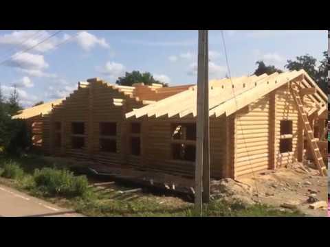 Работы по строительству одноэтажного дома 235 кв. м. в Новгородской области, на берегу реки Вишера
