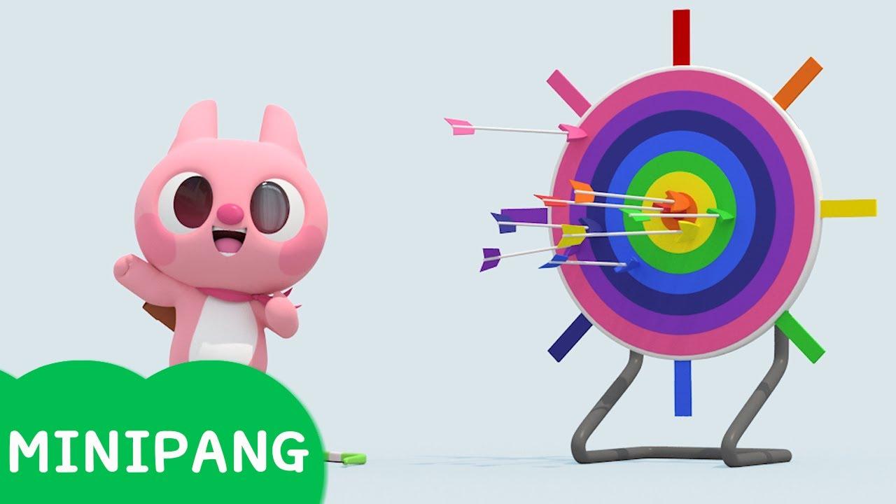 [미니팡 에스파냐] 미니특공대 | 과녘 맞추기 | 색깔놀이 | 에스파냐어 | 스페인어| Color play | Mini-Pang TV 3D Play