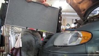 2005 2006 2007 Radiator Replacement Dodge Grand Caravan Removal Install Remove REPAIR FIX