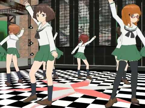 MMD Get Lucky   Dance Performaces by Girls und Panzer ガール