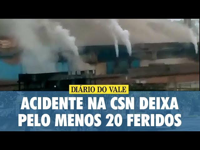 Acidente na CSN deixa pelo menos 20 feridos e barulho na Aciaria assusta moradores