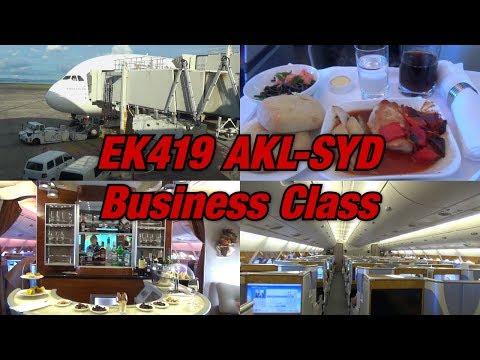 Business Class Upgrade! | Tripreport Emirates A380 | EK419 Auckland-Sydney | A6-EEK