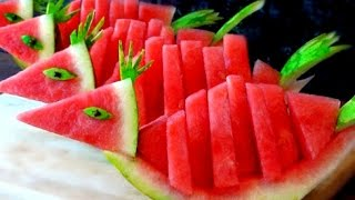 How To Make Watermelon Birds | Watermelon Art | Fruit Carving Garnish | Food Decoration