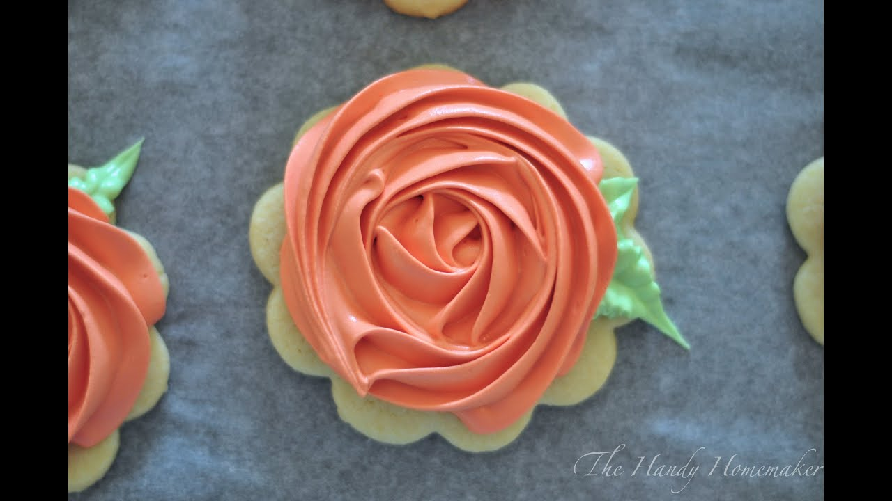 Rosette Cookies with Royal Icing - YouTube