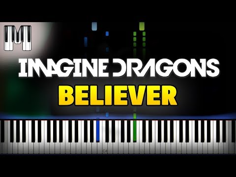 Imagine Dragons - Believer Piano Tutorial (FREE Sheet Music + Midi)