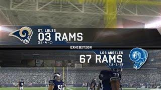 2003 St Louis Rams vs 1967 Los Angeles Rams