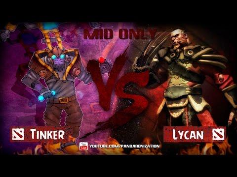 видео: tinker vs lycan [Битва героев mid only] dota 2
