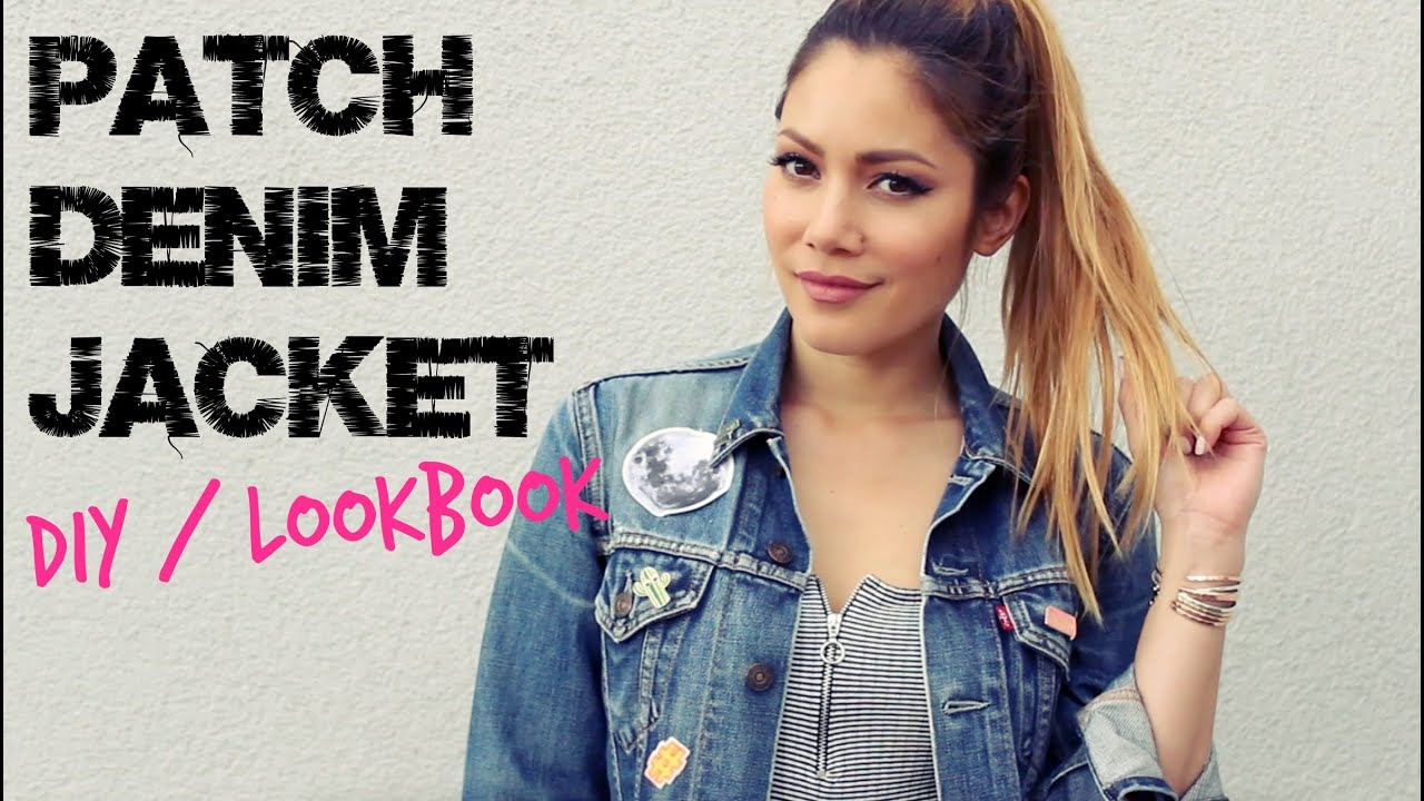 how i style jeansjacke mit patches diy lookbook. Black Bedroom Furniture Sets. Home Design Ideas