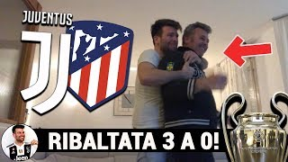 Cristiano Ronaldo tre volte! Live Reaction Juventus 3 Atletico Madrid 0 in Champions League!