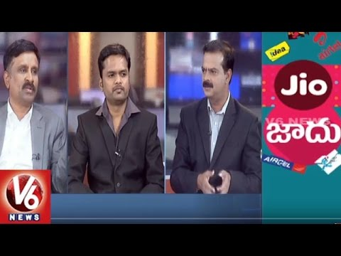 Lycos Internet Limited Chairman Suresh Reddy Views On Reliance Jio | 5PM Discussion | V6 News