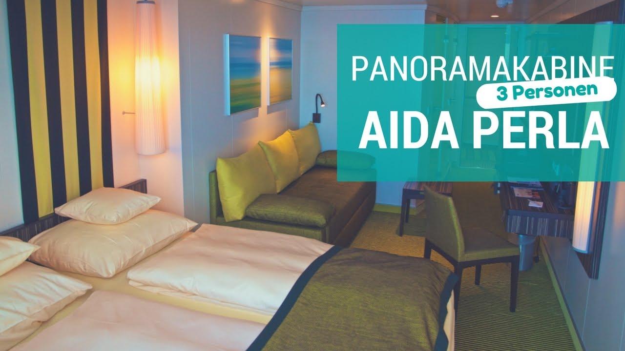 aidaperla panorama kabine f r 3 personen youtube. Black Bedroom Furniture Sets. Home Design Ideas