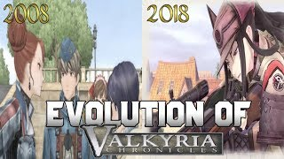 Graphical Evolution of Valkyria Chronicles (2008-2018)