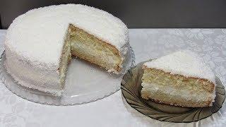 """Домашний Торт """"Кокосовый Остров"""" - Нежный как Облако"""