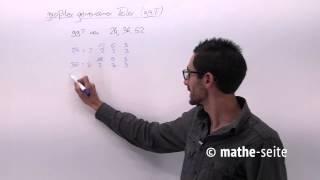 Größter gemeinsamer Teiler ggT und wie man ihn bestimmt, Beispiel 1 | B.10.03