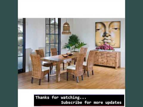 Dining Room Furniture Sets | Indoor Wicker Dining Chairs - YouTube