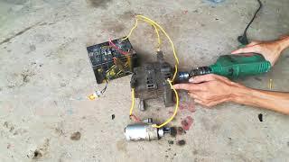 Thử củ phát điện ôtô 12V mua ở Bãi_ Generator 12v