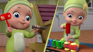 Johnny's Little Wooden Train - Playing with Toy | Rhymes and Kids Songs | Infobells
