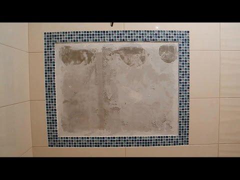 Зеркало с мозаикой,прямо в плитке ч.1