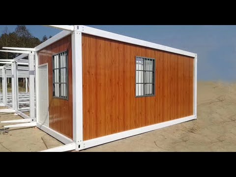 How to easy install  portable a flat pack container house