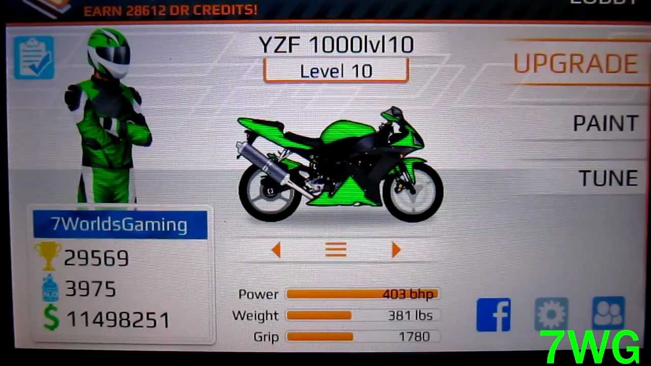 Drag Racing Bike Edition: How To Tune A Level 10 YZF 1000 6 693s 1/4 mile!
