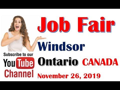 Windsor Ontario CANADA Job Fair NOVEMBER 26, 2019