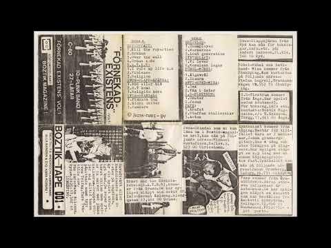 Förnekad Existenz  -  Compilation Tape  -  Svensk Punk  (1984)