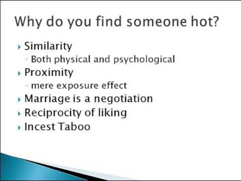 Psychology 101: Physical Attraction - YouTube