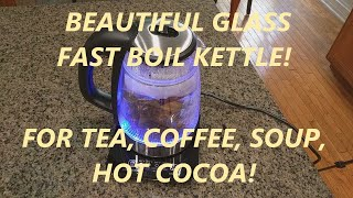 REVIEW Coctione Electric Kettle Glass Digital Kettle Double Wall Cool Touch Cordless
