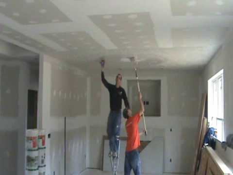 How to make a sunburst drywall texture - YouTube