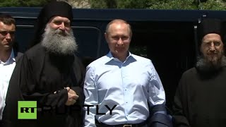 LIVE: Putin to visit Mount Athos alongside Patriarch Kirill