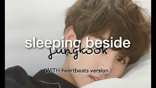 [BTS ASMR🎧] Jungkook Sleeping Beside You   Soft Breathing + Heartbeats VER