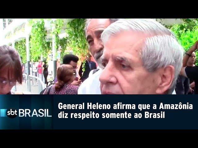 General Heleno afirma que a Amazônia diz respeito somente ao Brasil | SBT Brasil (12/02/19)
