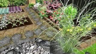 Декоративный огород в Landscape Architect 3D Pro. Проект сада.