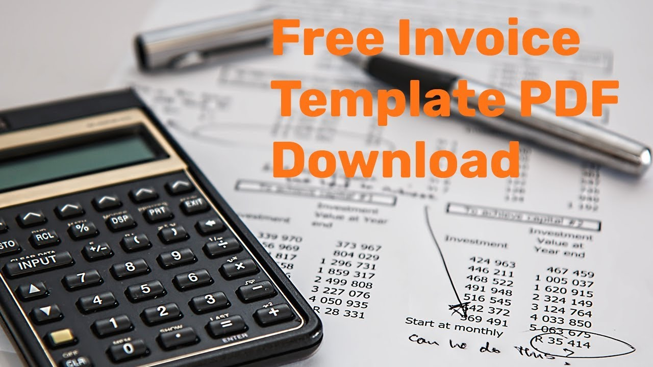 Sample Free Printable Invoice Templates To Generate Invoice Online - Online invoice template free download