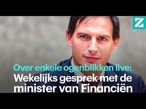 Wekelijks gesprek met de minister van Financiën