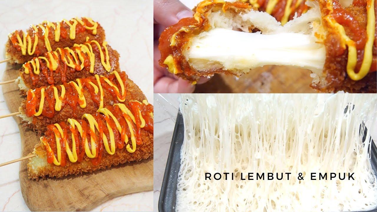 Resep Roti Empuk Corndog Keju Mozzarella Tanpa Ulen Bisa Utk Pemula Youtube