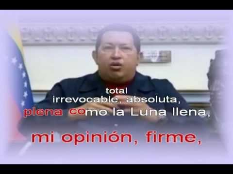 """""""Maduro desde mi corazón"""" con letras karaoke"""