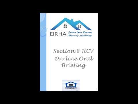 EIRHA Section 8 Housing Choice Voucher Online Briefing