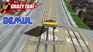 Crazy Taxi - Gameplay - Test Demul (Emulateur Sega Dreamcast)