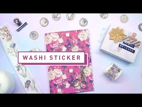[ DIY ] Washi Sticker Book