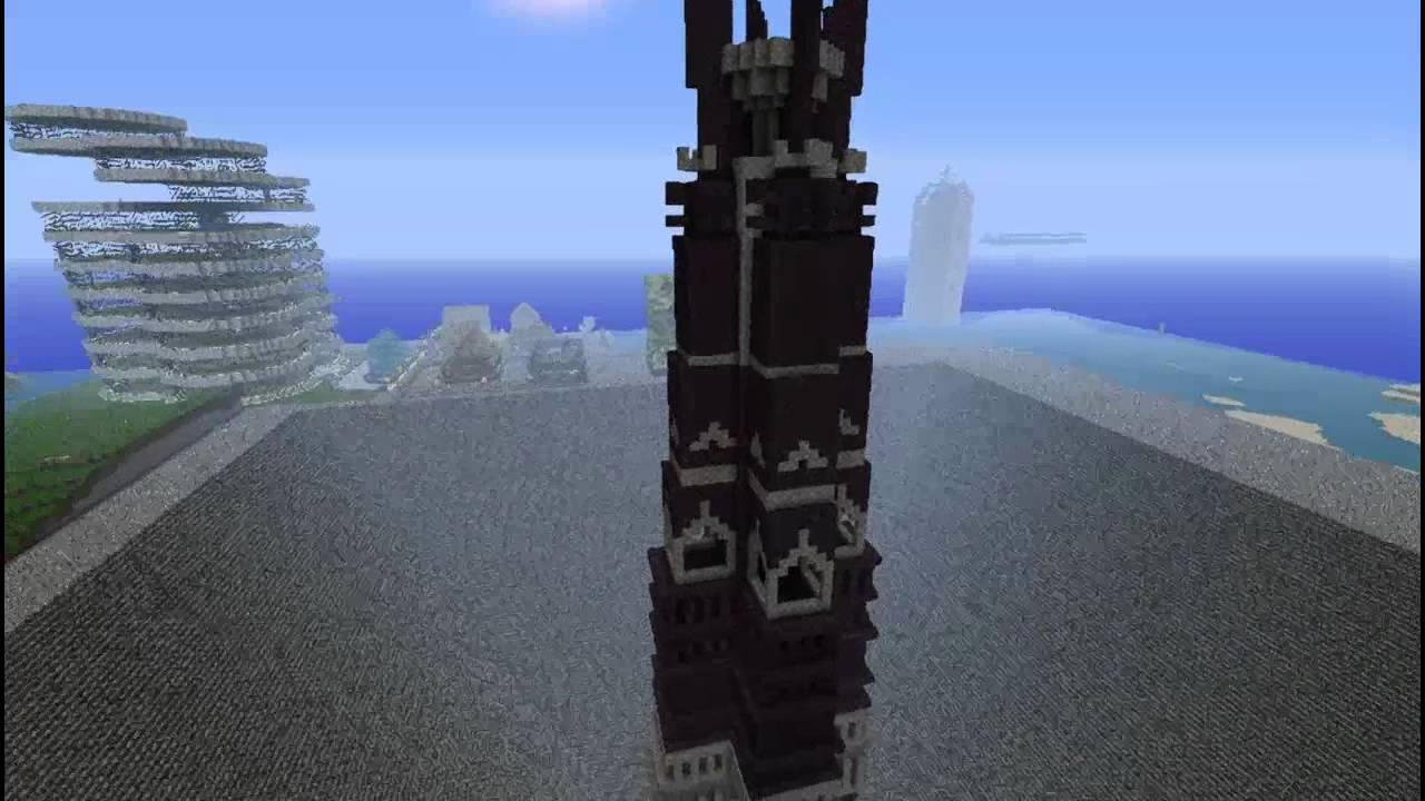 Minecraft Wieża Sarumana Orthanc Prominecraft Pl Youtube