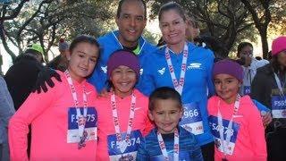 Family of 6 bonds through prepping for Chevron Marathon