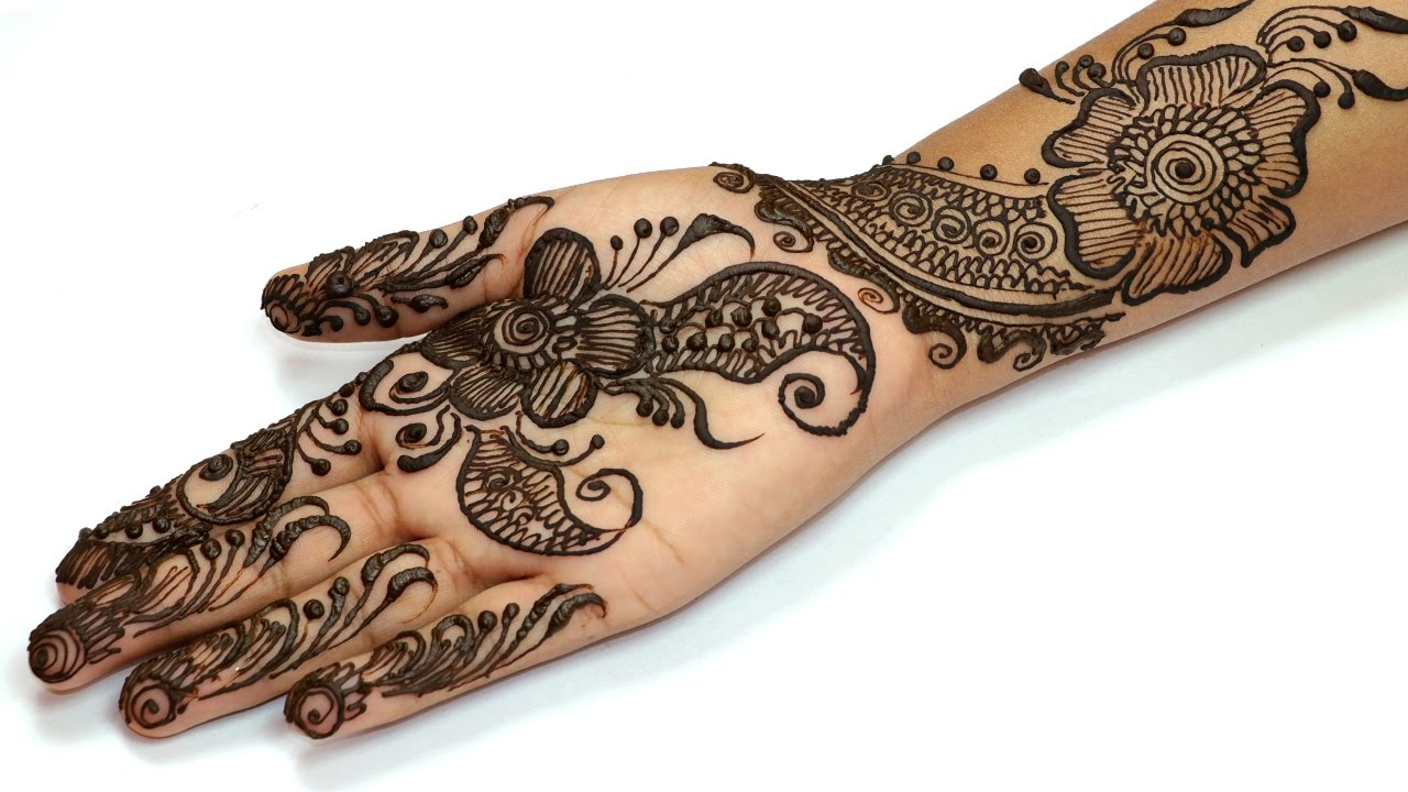 Very Easy Mehndi Designs For Kids Front Hand