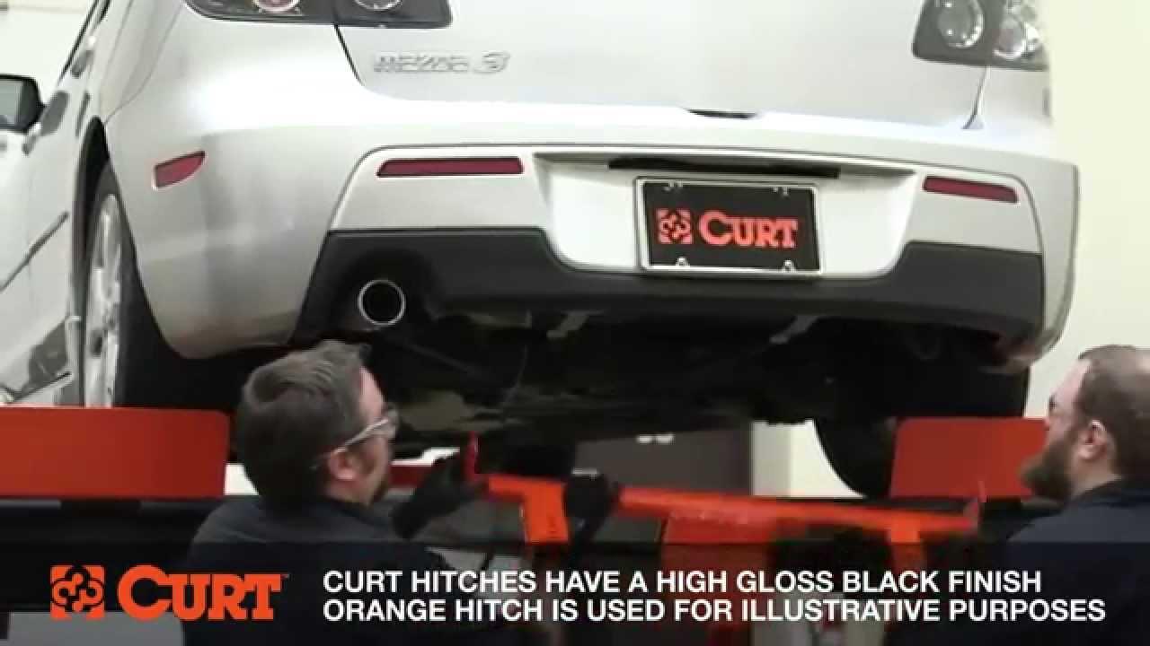Elegant CURT 11386 Trailer Hitch Installation On A Mazda 3