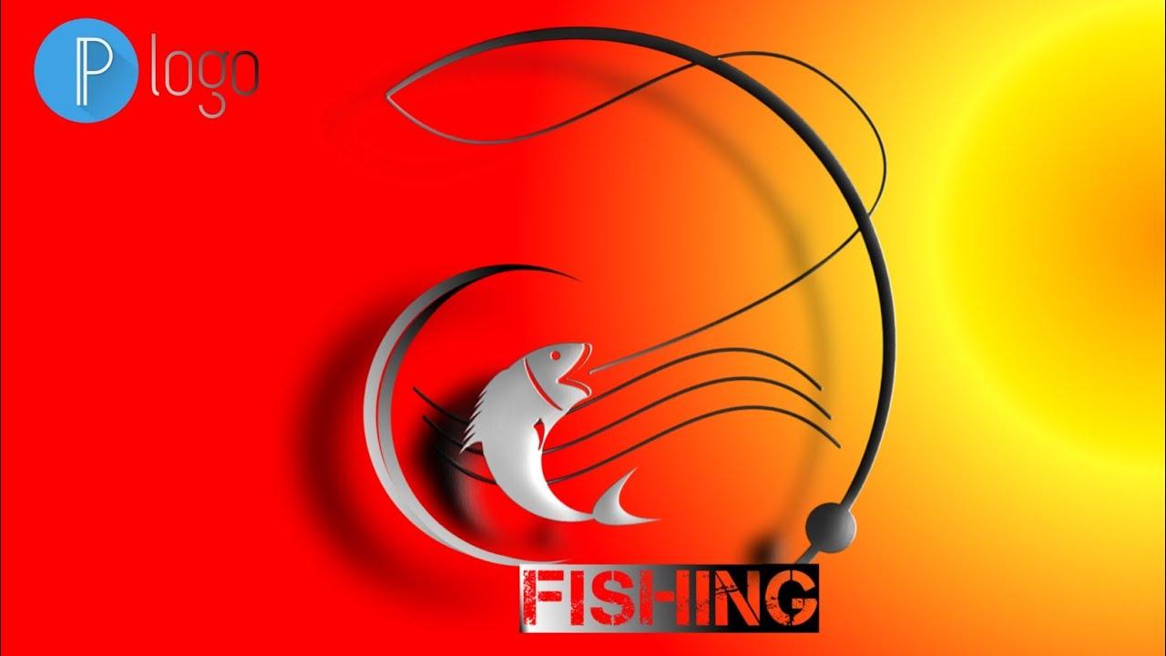 Cara Membuat Logo Mancing How To Make A Fishing Logo Logo Design Youtube