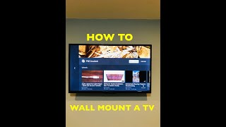 How to Mount a TV on a Wall & Cable Plate Installation