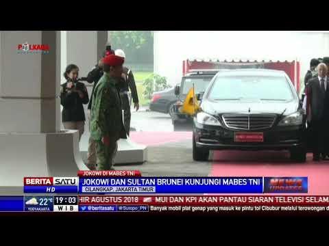 Jokowi dan Sultan Bolkiah Kunjungi Mabes TNI di Cilangkap