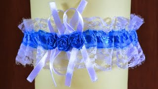 Свадебная подвязка с розочками. Мастер класс. Wedding garter