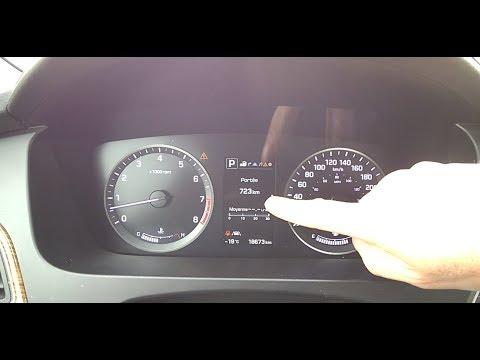 Hyundai Sonata 2016 How To Reset The Gas Mileage