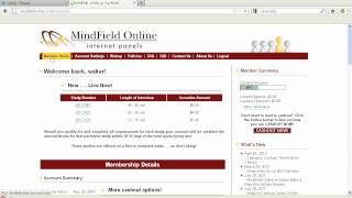 Can Surveys Pay Me Pt 7?? Mindfield Online Review and Proof